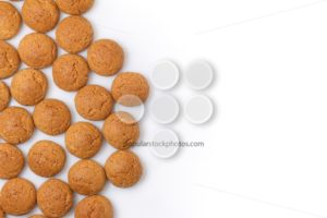 Pepernoten left isolated copy space - Popular Stock Photos