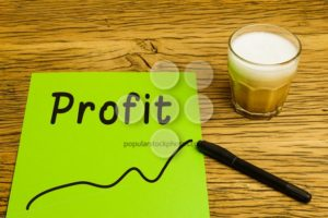 Profit graph green paper - Popular Stock Photos