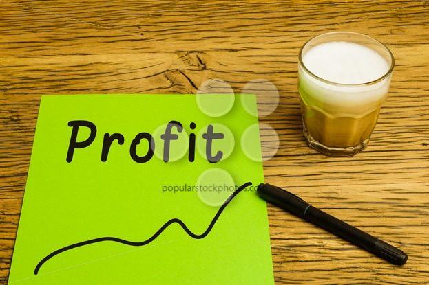 Profit graph green paper – Popular Stock Photos