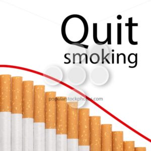 Quit smoking text graph cigarettes - Popular Stock Photos