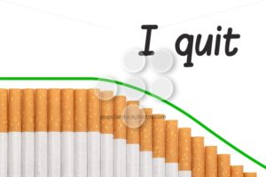 Quit smoking text graph cigarettes - Popular Stock Photos