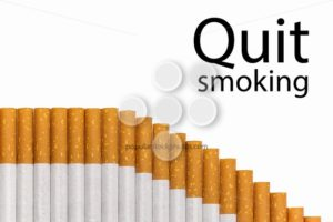 Quit smoking text graph of cigarettes - Popular Stock Photos