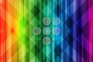 Rainbow background colorful intersect pattern - Popular Stock Photos