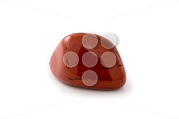 Red jasper gem white background – Popular Stock Photos