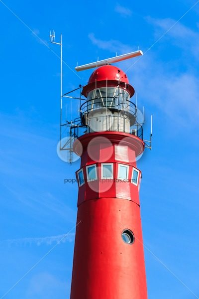Red lighthouse close-up – Popular Stock Photos