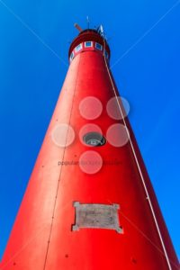 Red lighthouse from bottom - Popular Stock Photos