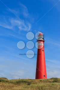 Red lighthouse landscape - Popular Stock Photos