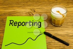 Reporting text graph green paper - Popular Stock Photos
