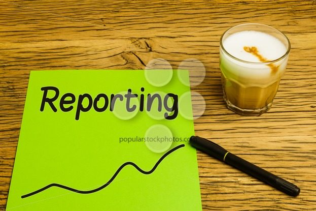 Reporting text graph green paper – Popular Stock Photos