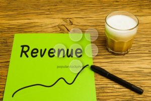 Revenue graph green paper - Popular Stock Photos