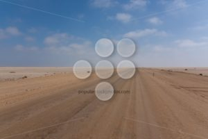 Road between desert and ocean - Popular Stock Photos