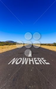 Road to nowhere text Namibia Africa - Popular Stock Photos