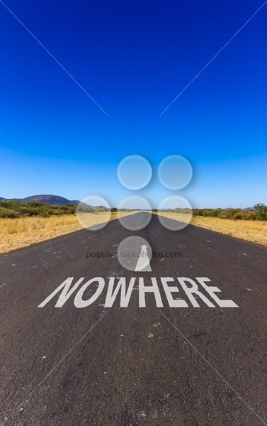 Road to nowhere text Namibia Africa – Popular Stock Photos