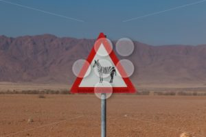 Roadsign zebra crossing in africa - Popular Stock Photos