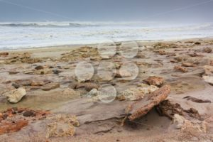 Rocky shore skeleton coast Namibia - Popular Stock Photos