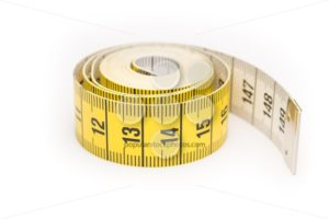 Rolled yellow black measure lint - Popular Stock Photos