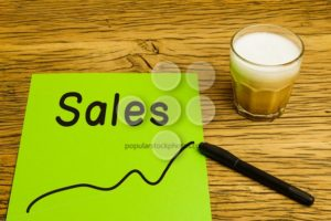 Sales graph green paper - Popular Stock Photos