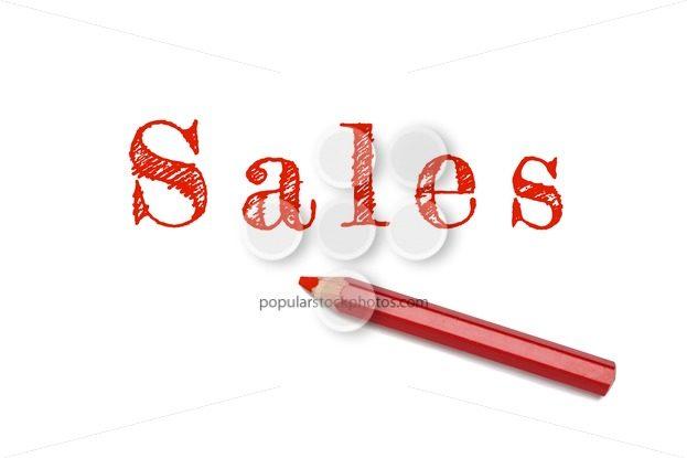 Sales sketch red pencil – Popular Stock Photos