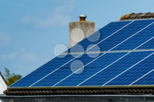 Solar panels roof house - Popular Stock Photos