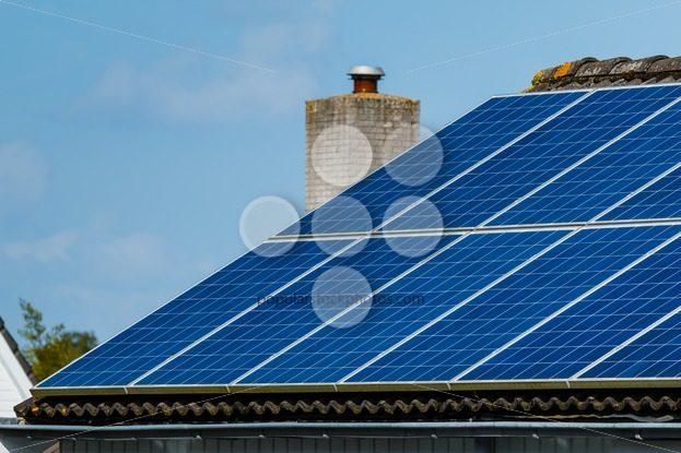 Solar panels roof house – Popular Stock Photos