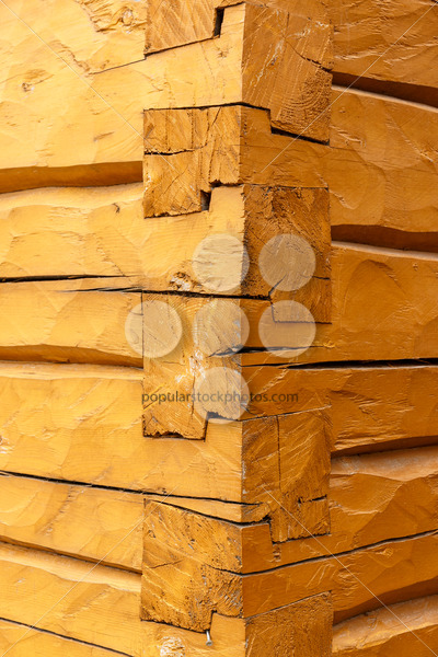 Stacked beam connection building Scandinavia – Popular Stock Photos