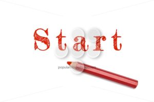 Start sketch red pencil - Popular Stock Photos