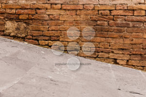 Steep walkway and old wall - Popular Stock Photos