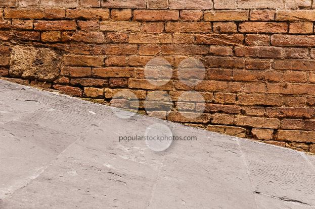 Steep walkway and old wall – Popular Stock Photos