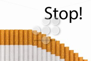 Stop smoking text graph of cigarettes - Popular Stock Photos