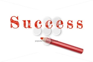 Success text sketch red pencil - Popular Stock Photos