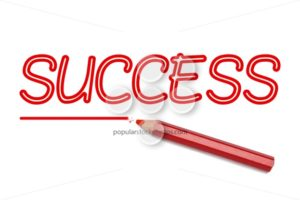 Success written red pencil - Popular Stock Photos