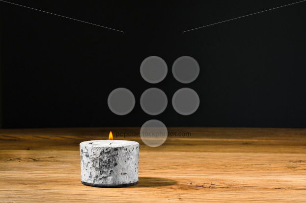 Tealight or candle in holder kitchen table - Popular Stock Photos