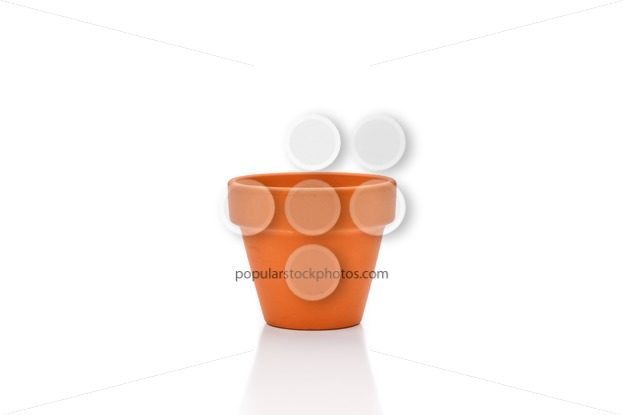 Terracotta flower pot isolated on white - Popular Stock Photos