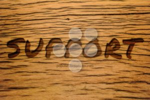 Text carved wood support - Popular Stock Photos