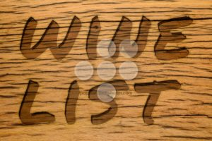 Text carved wood wine list - Popular Stock Photos