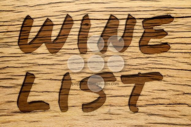 Text carved wood wine list – Popular Stock Photos