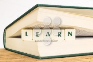 Text learn with dice - Popular Stock Photos