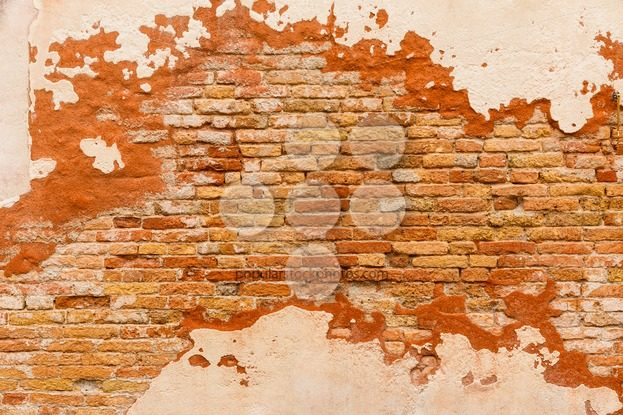 Texture old brick wall plaster – Popular Stock Photos