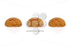 Three pepernoot isolated front view - Popular Stock Photos