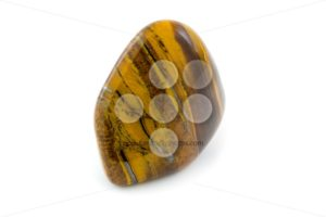 Tiger's eye detailed beautiful gemstone close up white backgroun - Popular Stock Photos