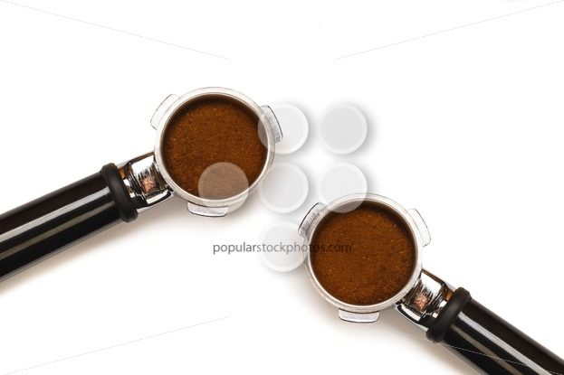 Two espresso coffee machine pistons – Popular Stock Photos