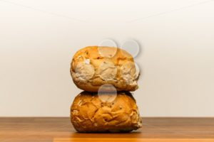 Two spelt buns stacked - Popular Stock Photos