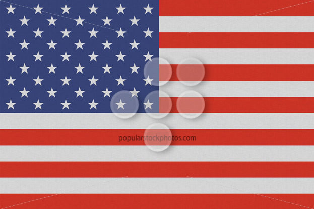 USA American national flag on linen texture - Popular Stock Photos