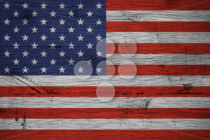 USA American national flag painted old oak wood - Popular Stock Photos