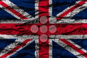 United Kingdom national flag painted wooden bark tree - Popular Stock Photos