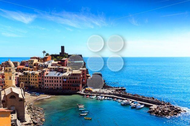 Vernazza cinque terre Italy coast - Popular Stock Photos