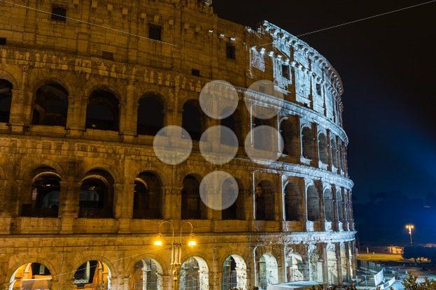 View Colosseum Rome during light show - Popular Stock Photos
