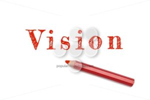 Vision text sketch red pencil - Popular Stock Photos