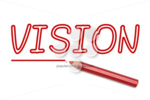 Vision written red pencil - Popular Stock Photos