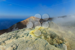 Volcano on Vulcano island Sicily - Popular Stock Photos